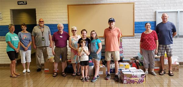 Resurrection Lutheran Church Donates Supplies. Thank you!