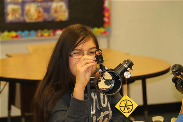 Fifth-Graders Receive Telescope Donation