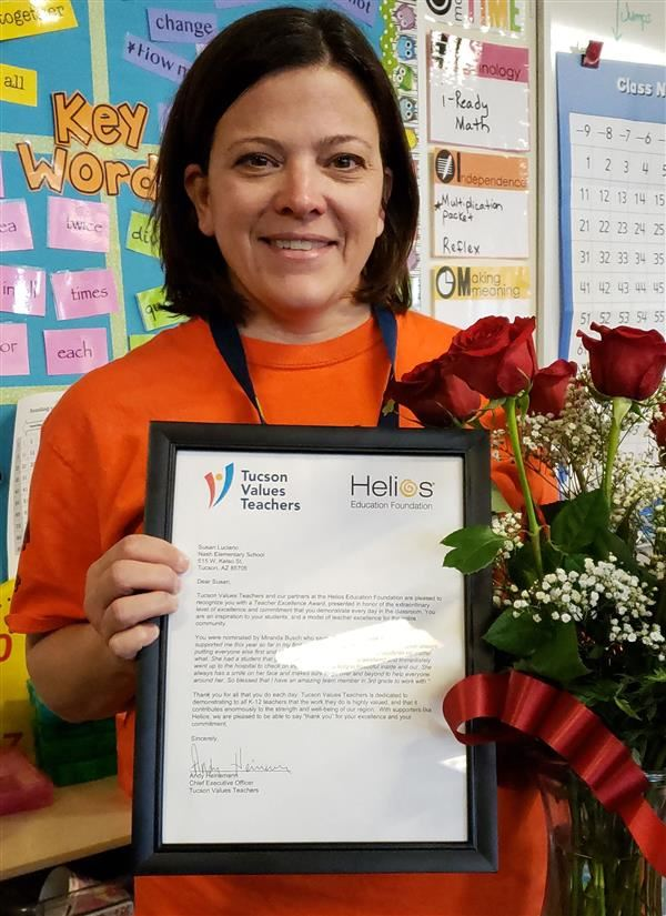 Mrs. Luciano awarded Teacher Excellence Award
