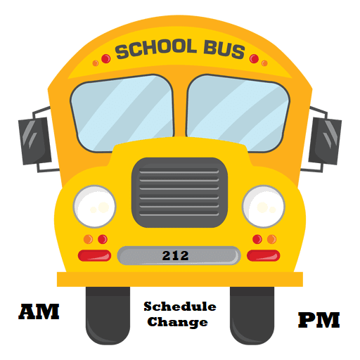 Bus 212 Schedule Change Start on Monday the 14th January 2019