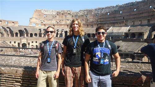 boys at colloseum