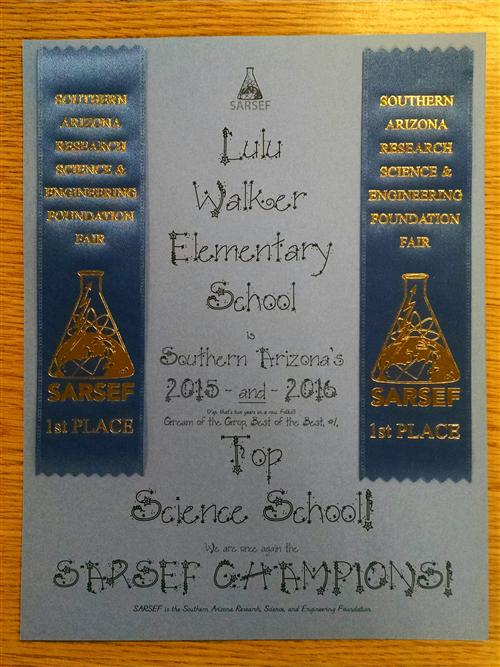 Science Fair SARSEF certificate