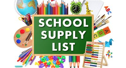 School Supply Lists 2020-2021