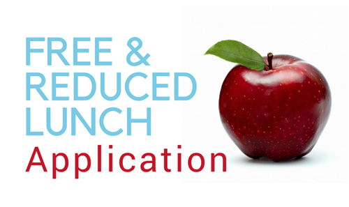 Free and Reduced lunch application with apple