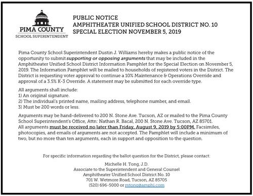 Public Notice for the Nov. 9 Special Election