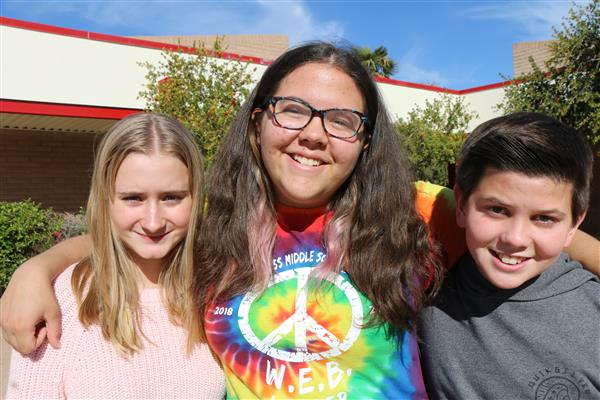 Three Cross Middle School students