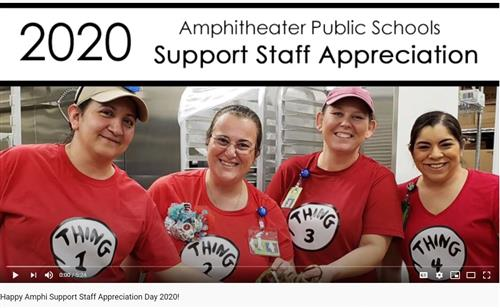 Support staff food service team