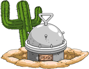 cactus and time capsule