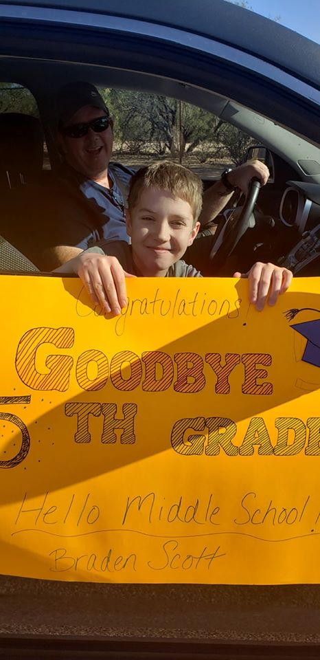 Holaway Elementary Drive Thru Kindergarten and 5th Grade Promotion