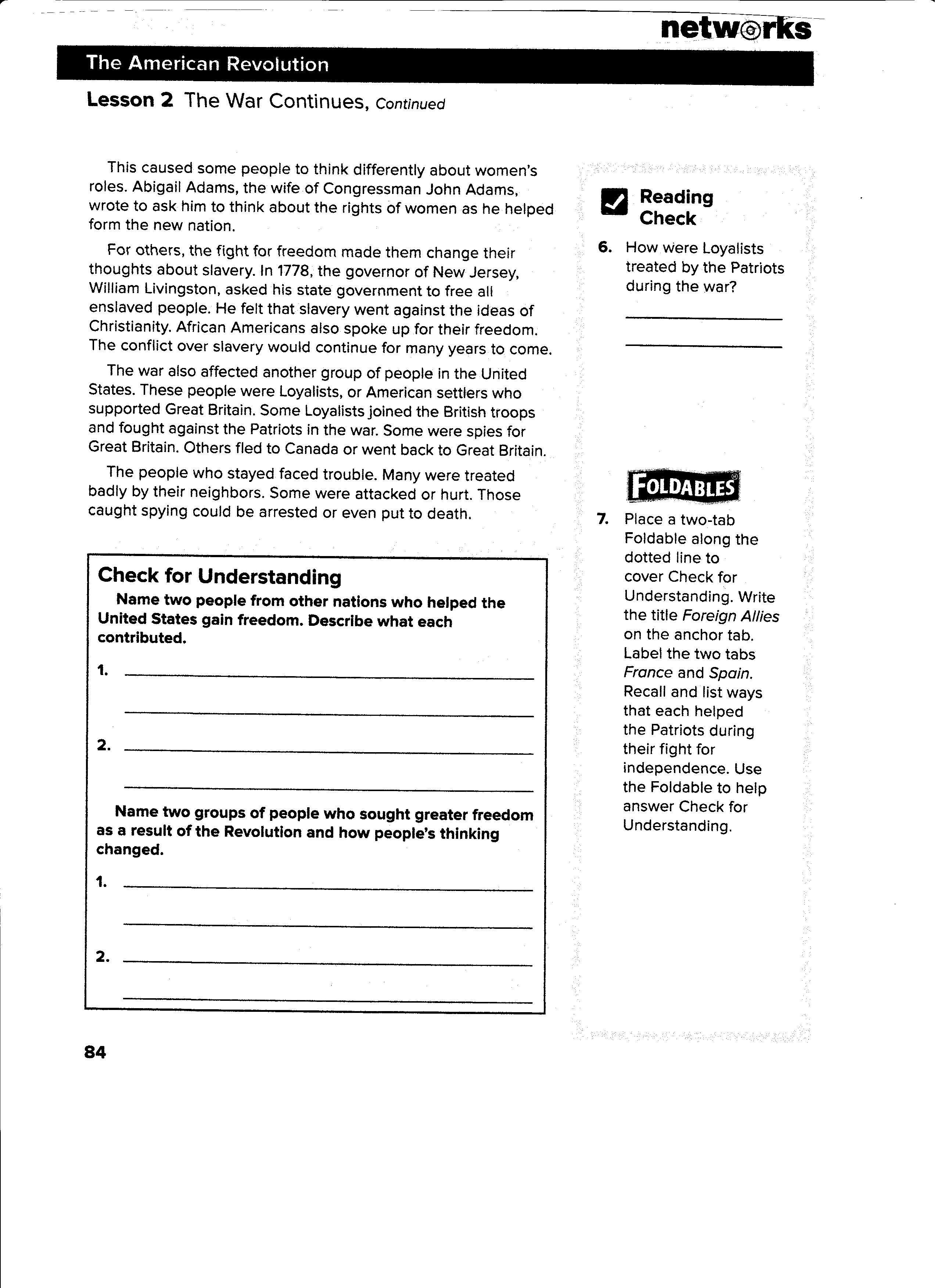 worksheet The Kansas Nebraska Act Of 1854 Worksheet Answers obregon jose homework 2 hw read lesson 2the war continues 4the final years by monday page 82 83