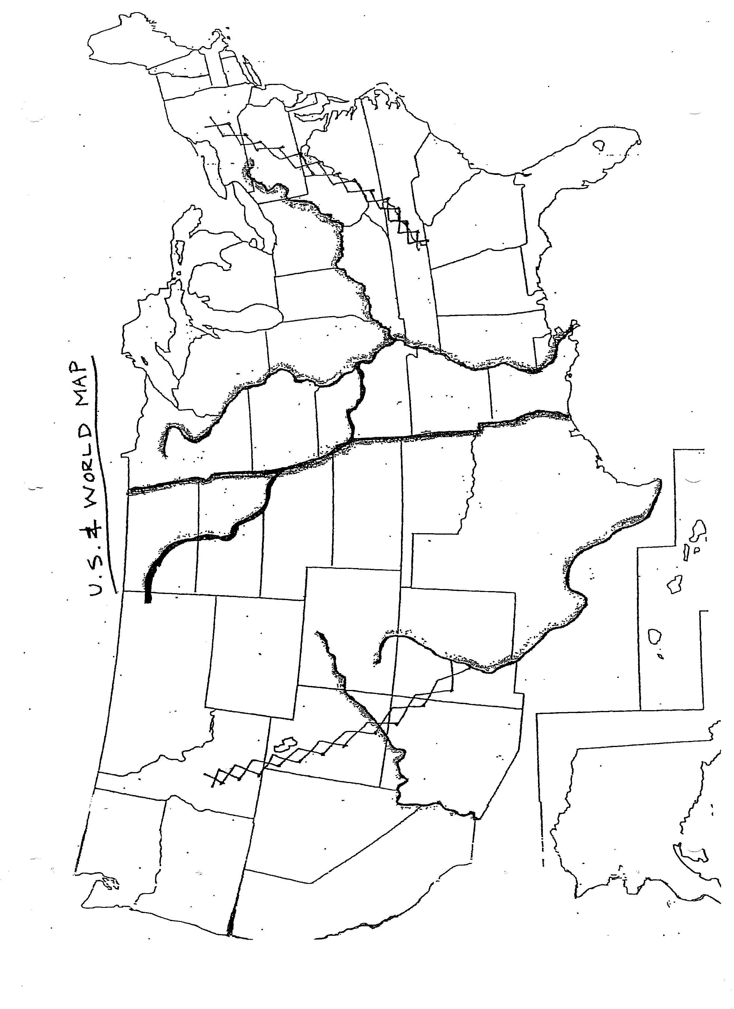 Drawing A Us Map Globalinterco - Us map line drawing